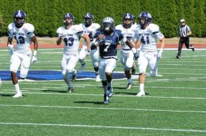 Monmouth WR Darren Ambush breaks away for an 81 yard touchdown in the 2nd quarter. (Photo Credit: Monmouth University Athletics)