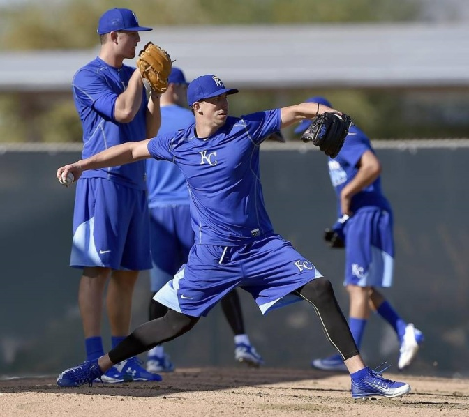 Kyle Zimmer looks healthy as the Royals reported for pitchers and catchers on Feb. 18. (Photo Credit: John Sleezer/The Kansas City Star)